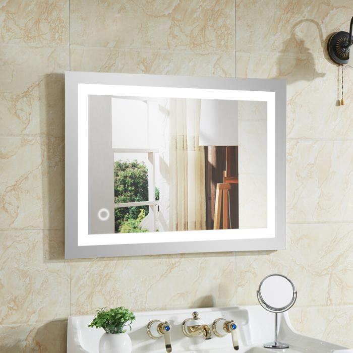 Led lampe de miroir clairage pour salle de bain 500 700 blanc froid achat vente miroir - Lampe led salle de bain ...