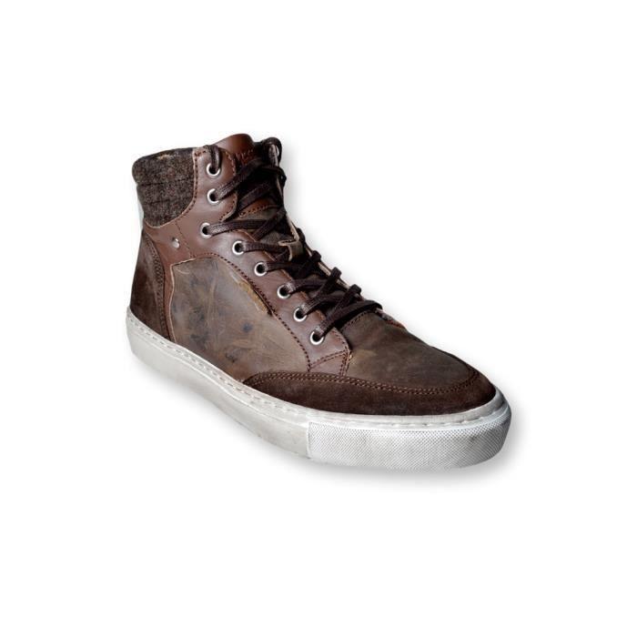NO EXCESS - Baskets haute homme - marron - model sneaker - nouveauté