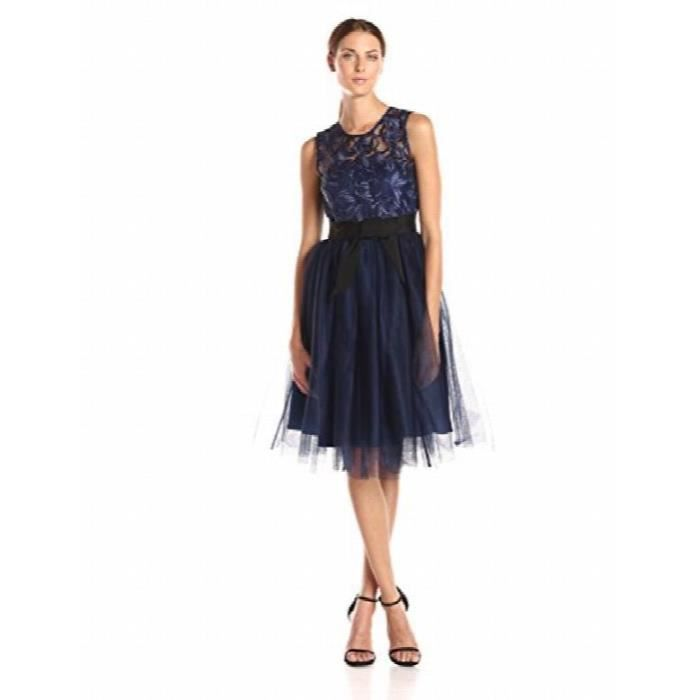 8890c755899 Donna Morgan robe dentelle cocktail des femmes avec l illusion ...