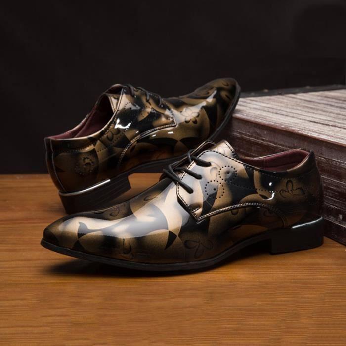Designer Hommes Flats Lacets luxe Hommes Casual Robe Toe Pointu Party événement Chaussures Hommes,jaune,44