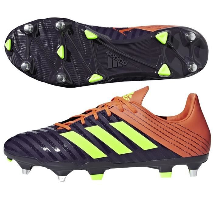 hot sale online e30ea c26a0 Chaussures rugby Adidas Malice SG violet