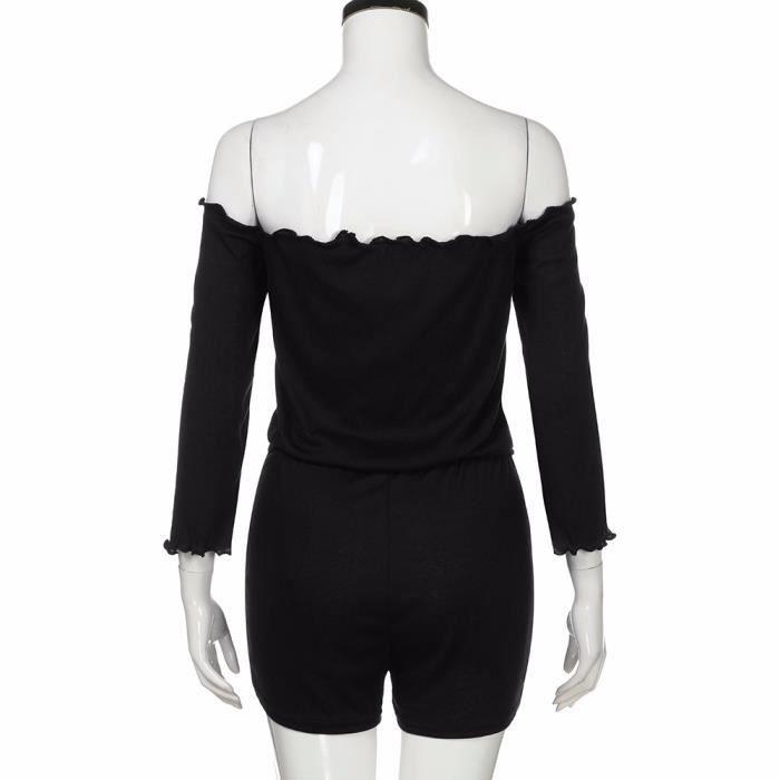 Pantalon Shorts Combi Bodycon Clubwear Party Combinaison Nouveau Femmes noir short Dames Combishort qALRj435