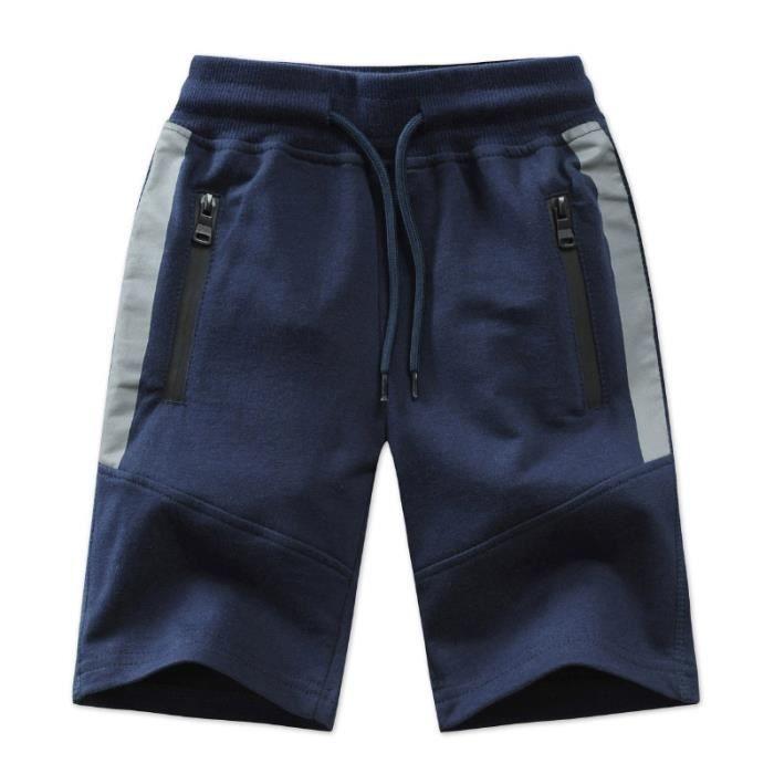 Bermuda en Coton Enfant Garcon Taille Élastiqué
