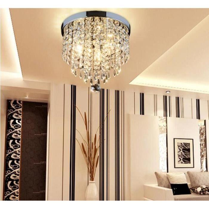 STOEX® 220V E14 15CM Plafonnier Lampe Cristal Lampe de Plafond ...