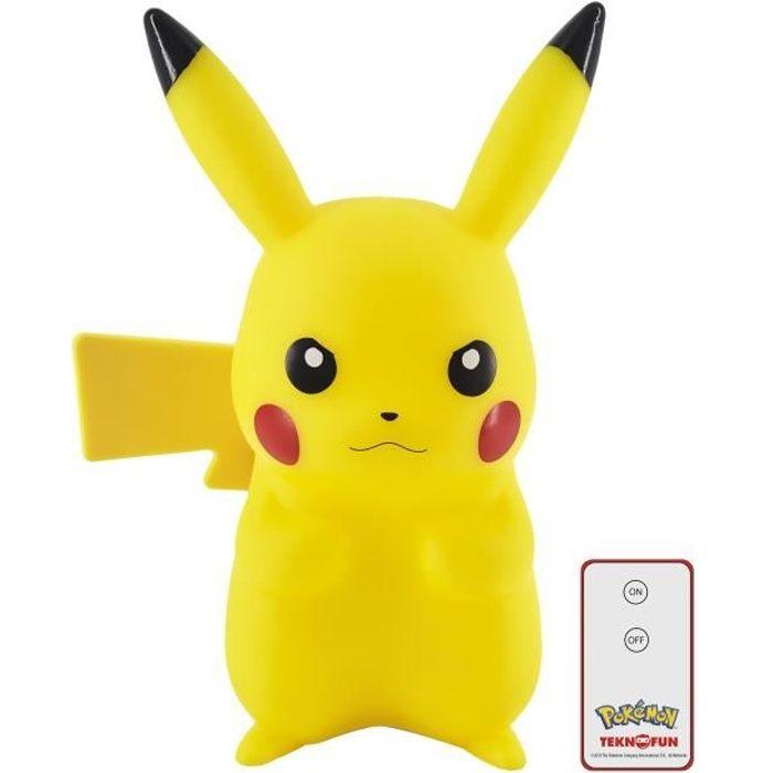 FIGURINE - PERSONNAGE TEKNOFUN Lampe figurine LED Pikachu avec télécomma