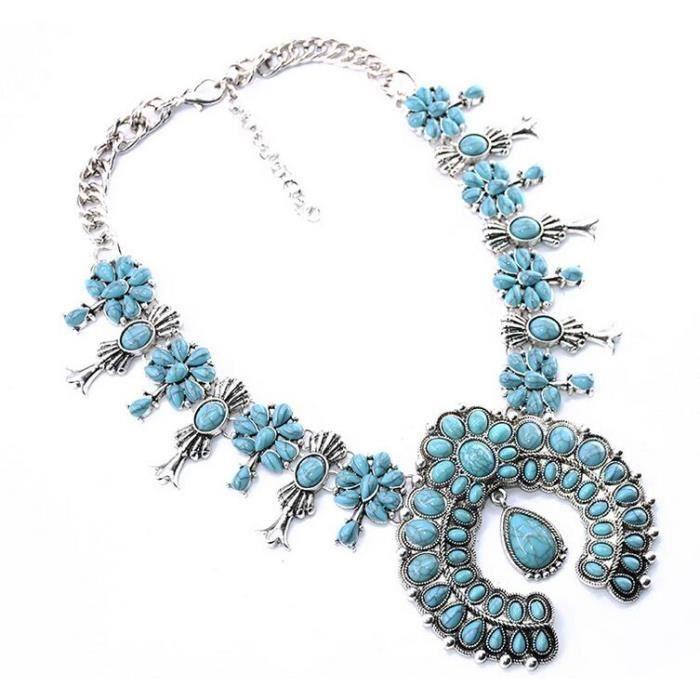 Collier de femmes Bijoux de mode Alliage Or Plaqué Cristal artificiel Pierre Court Clavicule Collier