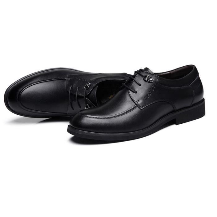 Chaussures Hommes Cuir Confortable mode Homme chaussure de ville ZX-XZ191Noir41