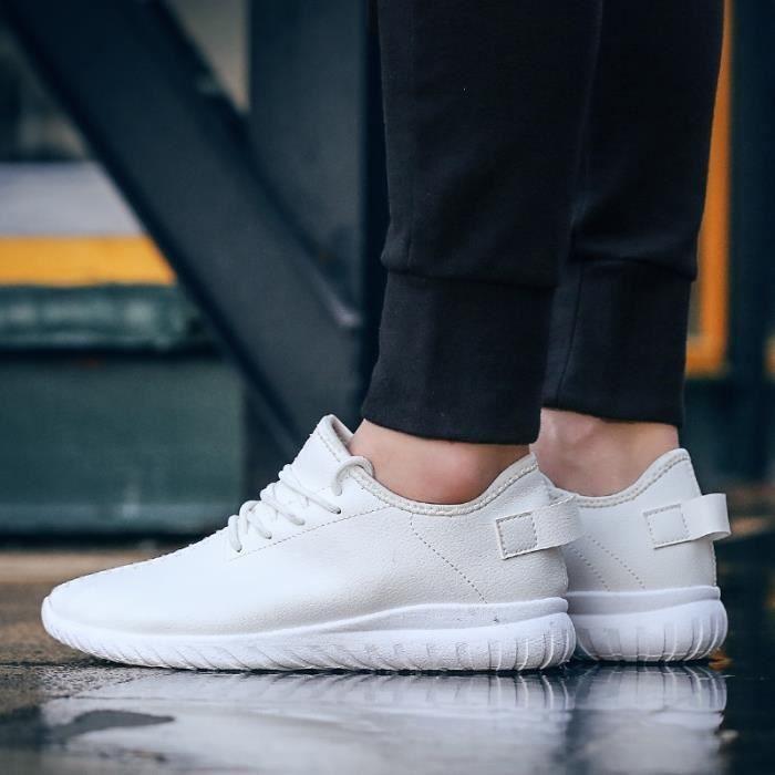 chaussures multisport Mixte Lovers mocassins sport loisir étudiants en cuir d'été blanc taille42