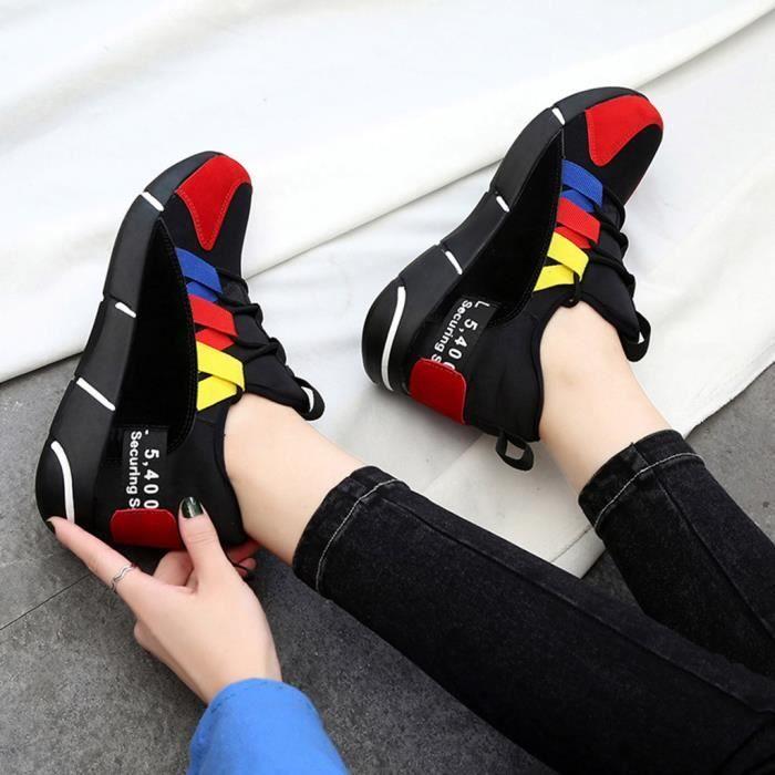 Baskets Course Chaussures De Lacets Femme Mode Respirante Formateurs Bl0908041219 Casual wxUqaPSHX