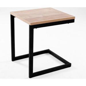 TABLE D'APPOINT Table d'appoint design industriel NEWARK 35 cm chê