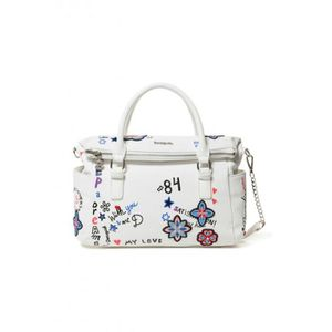 SAC À MAIN Desigual Sac 19SAXP61 Shibuya Loverty blanc