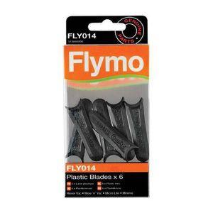 TONDEUSE 6 Lames en plastique FLY014 pour tondeuses FLYMO