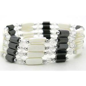 BRACELET - GOURMETTE Collier Pendentif Femme Bracelet aimant Magnetique