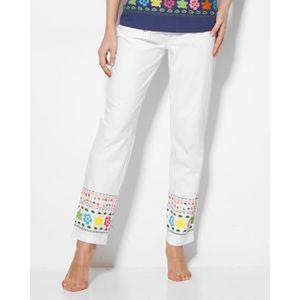 PYJAMA Pantalon de pyjama frise imprimée femme Venca