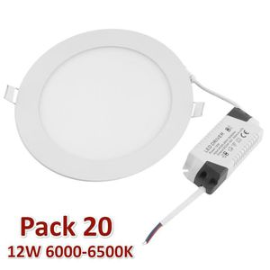 PLAFONNIER Spot LED ronde extra plate 12W Φ170mm downlight LE