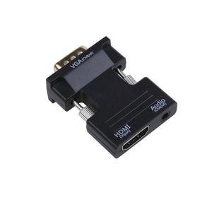 CÂBLE TV - VIDÉO - SON Adaptateur HDMI vers VGA, 1080P HDMI Femelle entré