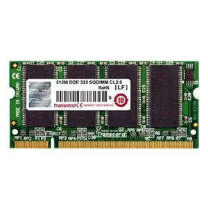 MÉMOIRE RAM 512Mo RAM PC Portable SODIMM Transcend JM467D643A-