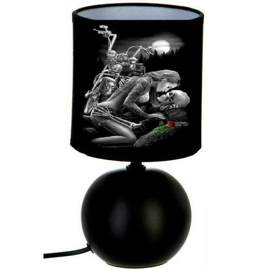 De Pied Skull Lampe Squelette Chevet Boule Moto j34AR5Lq