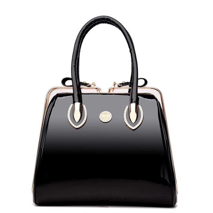 sac à main Femmes célèbres Cadre épaule en cuir verni Ladies Designer de haute qualité de grande capacité Sacs fourre-tout de-41