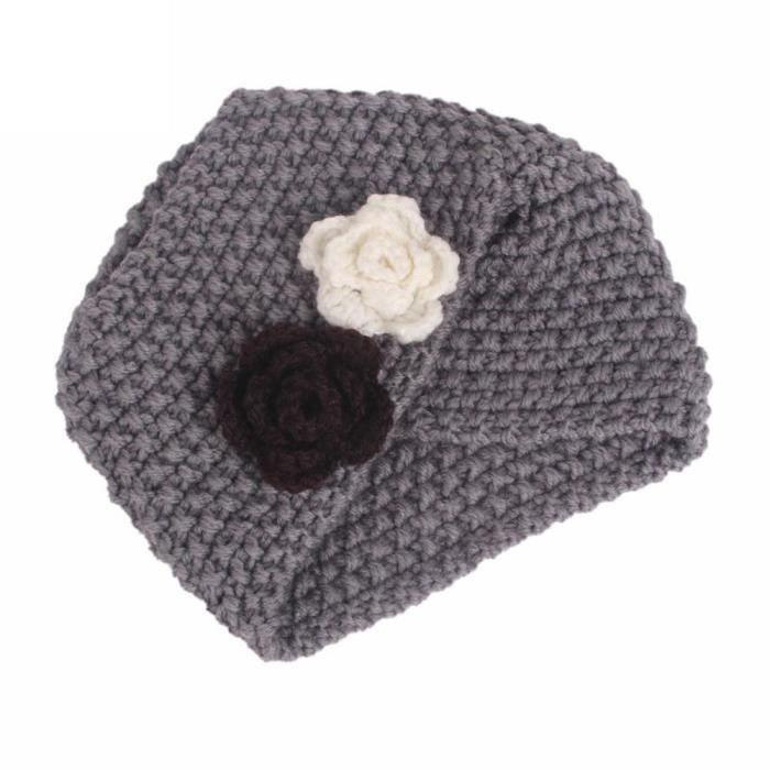Tonsee®Enfants bébé filles tricot chapeau bonnet turban tête Wrap Casquette  Casquette GY YHL70919187GY cdbf8eefce5