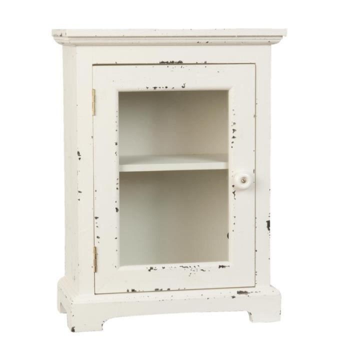 Armoire buffet petit format meuble d\'appoint vitrine - Achat / Vente ...