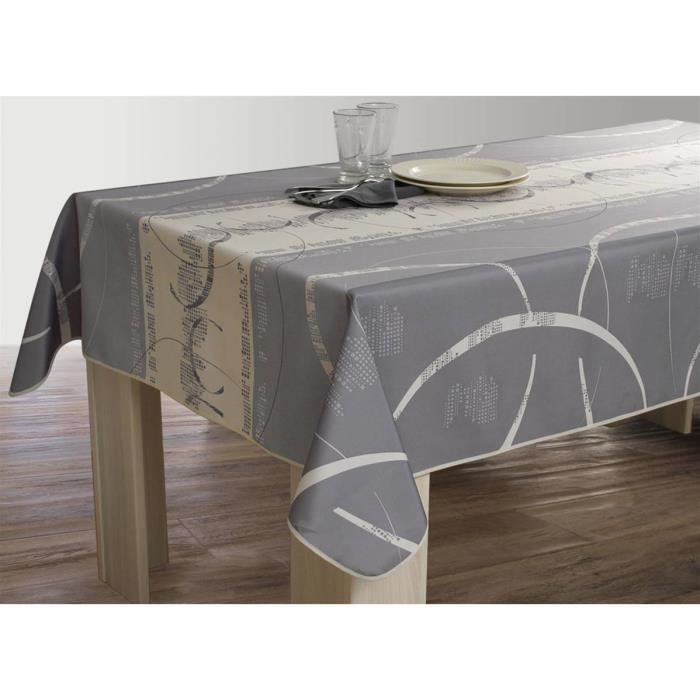 Agreable Nappe Anti Taches Rectangulaire 150x350 Cm   Astrid Ecru