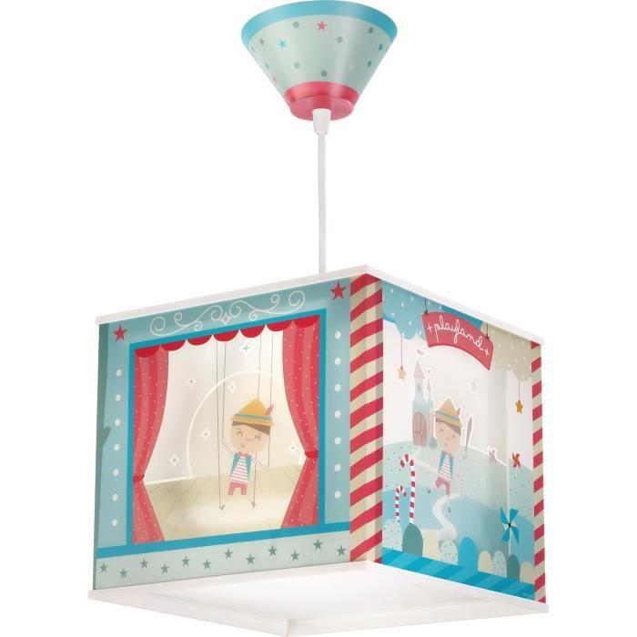 Elegant lustre suspension chambre enfant pinocchio bleu - Lustre pour chambre bebe ...