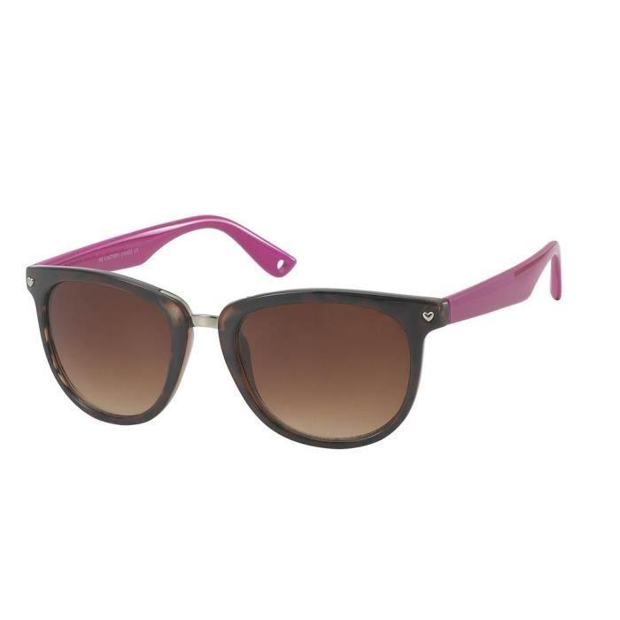 Lunettes de soleil COEUR-4 modèles au choix-9488 monture léopard foncé et rose