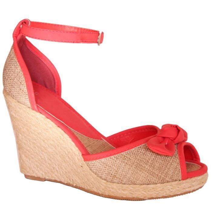 b9d78c7b35bf5d Chaussure femme compensée modèle... Rouge - Achat / Vente escarpin ...