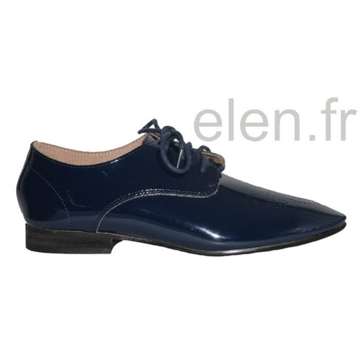 Derbies vernis bleu marine - VANESSA WU - Ref: 0764