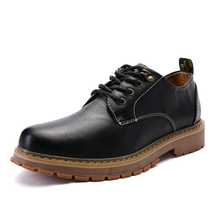 JOZSI Chaussure Homme Cuir Classique Chaussures de ville ZX-XZ217Noir39