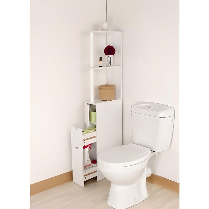 Meuble de rangement toilettes ou salle de bains achat for Meuble rangement bois salle de bain