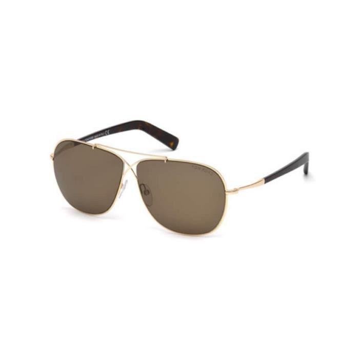 lunettes de soleil Tom Ford FT0393 28J or rosé brillant - roviex