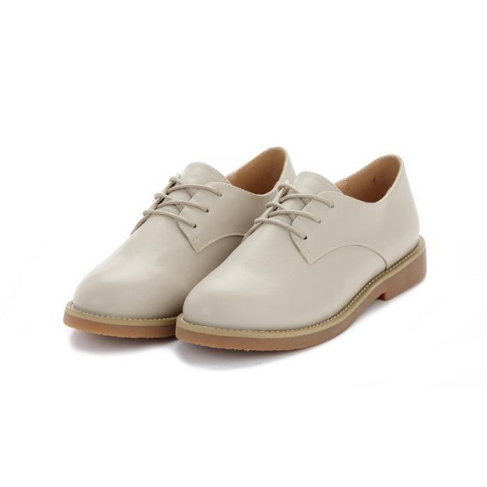 Chaussure Femme Cuir Confortable mode Mocassion chaussures de ville BCHT-XZ214Marron40 fpFPOB
