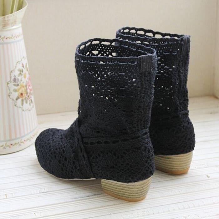 Casual modehall12781 Bottes Femme Talons La Anti De Martin Rond Chaussures Bout slip À 6pAqzw7P