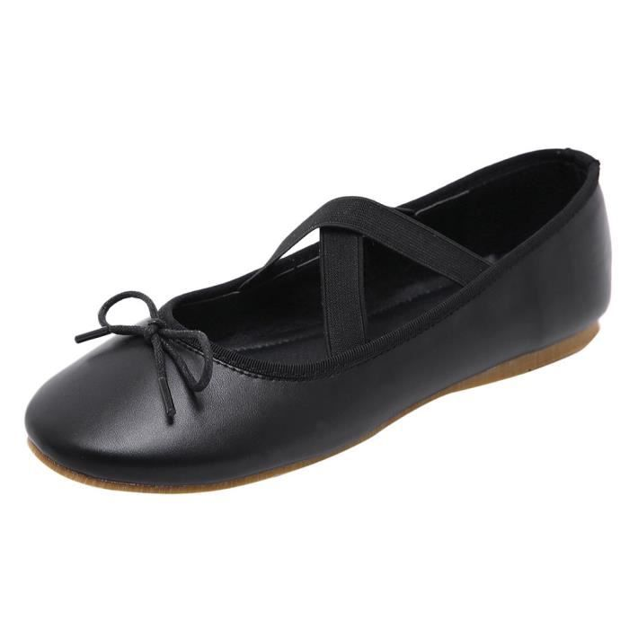 Veberge Loisirs Lanières 5276 Chaussures Femmes Rond Bout Yoga Flat Chaussons À Ballet Croisées Danse H7ORHr