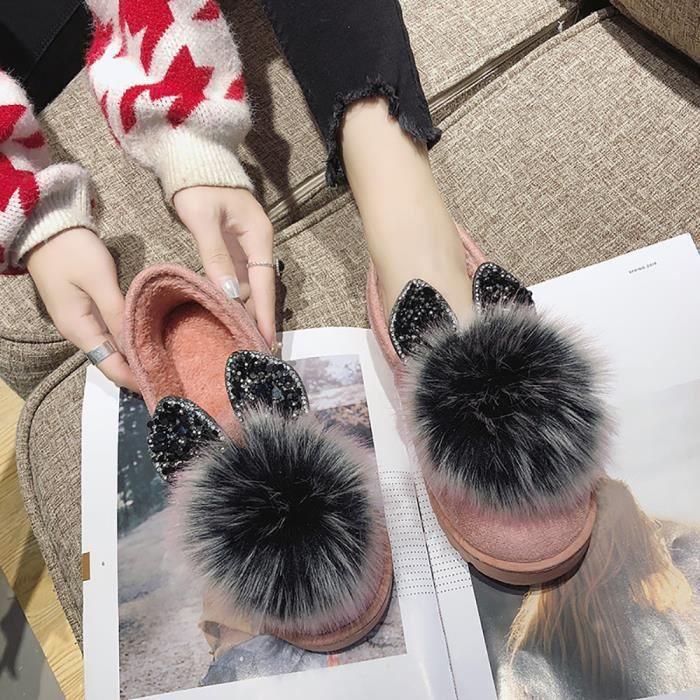 Petit Neige Chauds Et Peluche Chaussures De En Coton Plates Bottes Femmes Bottesll94 Confortables pqzdd