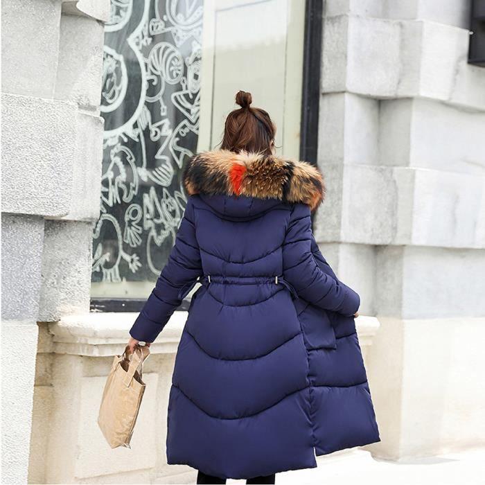 Veste Paontry3905 Fourrure Femmes En Fausse Chaud Slim À Les Capuchon Manteau D'hiver Long Épais FSTxvwOOq