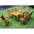 Salon en teck - Ensemble de jardin table 8 chaises - Achat / Vente ...