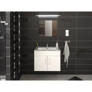 SALLE DE BAIN COMPLETE LIMA Ensemble salle de bain simple vasque L 60 cm