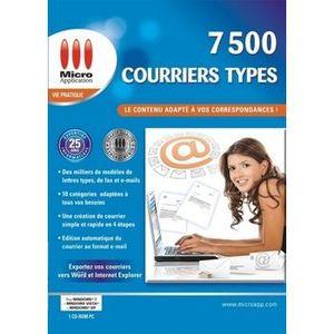 BUREAUTIQUE 7500 COURRIERS TYPES / Logiciel PC
