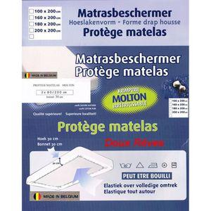 PROTÈGE MATELAS  - Protège matelas molleton 180x200cm 100%Coton qua