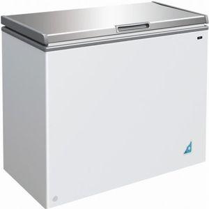 CONGÉLATEUR COFFRE Congelateur coffre 201 L avec couvercle inox