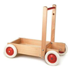 PORTEUR - POUSSEUR Egmont Toys - Chariot de marche bois massif - EGMO