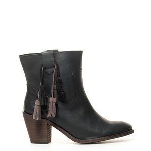 BOTTE Narcis bottes en cuir noir talon -Hauteur: 7cm-