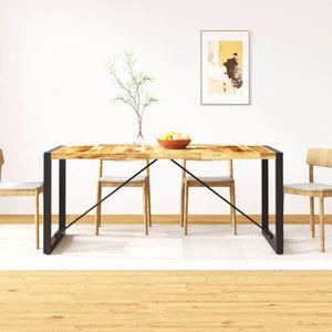 TABLE À MANGER SEULE vidaXL Table de salle à manger Bois de manguier b