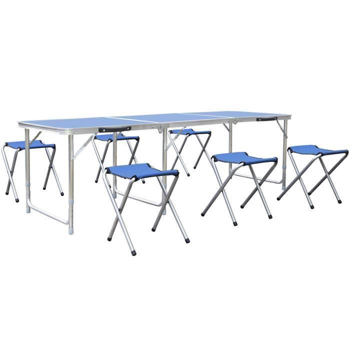 Table haute de jardin 6 chaises - Achat / Vente pas cher