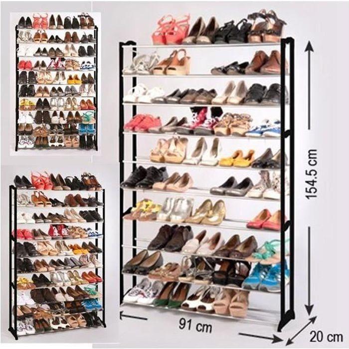 charmant Etagère range chaussures 50 paires ECO