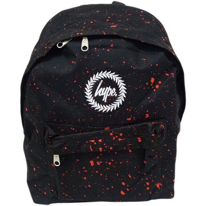 Juste Hype Backpack Sac noir et rouge moucheté noir - rouge