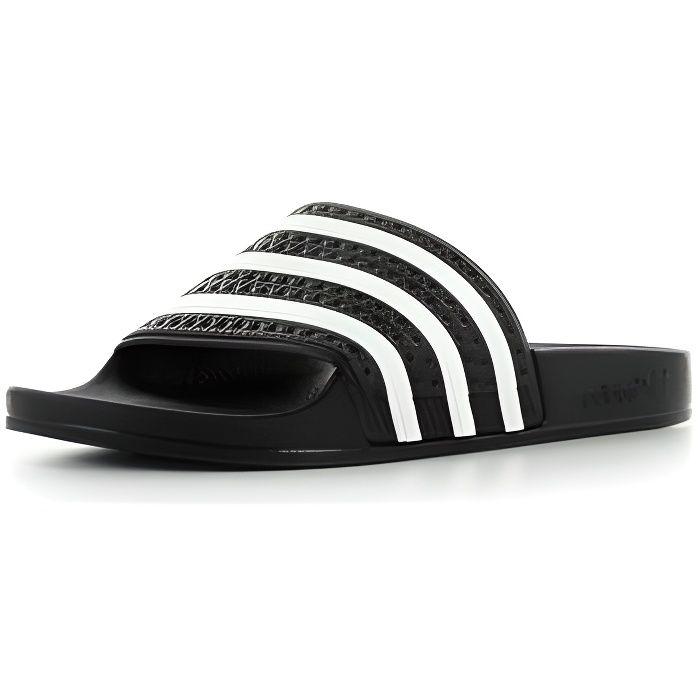 uk availability ffb98 16abe SANDALE - NU-PIEDS Adidas Adilette Noir et blanc